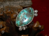 Easter Blue Turquoise and Sterling Silver Ring