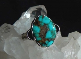 Easter Blue Turquoise and Sterling Silver Ring, Size 9 US