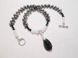 Fresh Water Potatoe Pearls Necklace, Teardrop Pendant Necklace