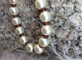 Handcrafted Swarovski Cream Pearl Bracelet