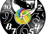 Hippie on road Loop-store handmade vintage vinyl clock