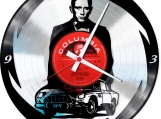 James Bond Loop-store handmade vintage double vinyl clock