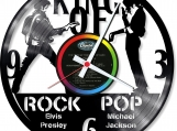 King of pop and rock Loop-store handmade vintage vinyl clock
