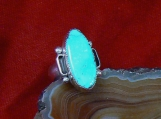 Sterling Silver and Godber/Burnham Turquoise Ring, Size 7