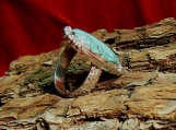 Sterling Silver and High Grade Valley Blue Turquoise Ring
