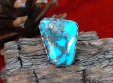Sterling Silver Ring and High Grade Morenci Turquoise Ring