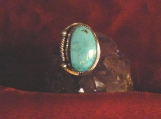 Stormy Mountain Turquoise and Sterling Silver Ring