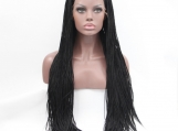"18""  Synthetic Braided Lace Front  #1-1B"