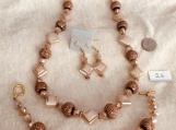 Copper Color Looking Necklace,Bracelet & Earring Set