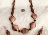 Copper  Color Necklace & Bracelet Set
