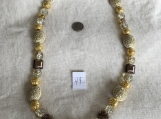 Gold, Cream & Brown Necklace