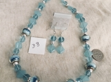 Light Blue Necklace & Earring Set