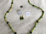Peridot, Yellow & Black Necklace & earring set