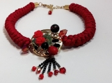 Red Fire Necklace   -  ALNE005
