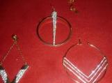 Royalty Rhinestone Gold Tone Fashion Clip On Earrings- NWT