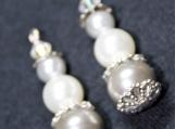 Silver White Drop Earrings
