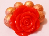 Toddler's  Red Flower Chunky Bracelet