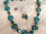 Turquoise Color Necklace and earring  Set