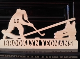 Personalized Scrolled Wooden Hockey Plaque