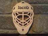 Personalized Wooden Hockey Goalie Mask