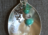 Silver Spoon Pendant with Turquoise & Jasper