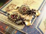 Gemstone Laden Selena Earrings Featuring Peridot, Garnet, Citrine, Aquamarin & Iolite Semi-Precious Gemstones