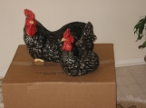 Rooster and Hen home decor