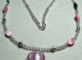 Tickled Pink Heart Necklace