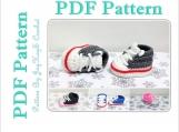 Converse Shoe Pattern Crochet Baby Sock Monkey Sneaker