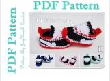 Crochet Pattern Baby Nike Shoes Sneakers Booties