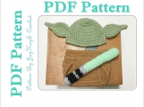Yoda Pattern Crochet Costume Baby Diaper Set Outfit