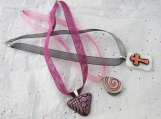 53 colour options Double Ribbon Organza Necklace with Sterling Silver End Caps and Clasp Any Length