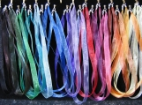 53 colour options Organza Ribbon Necklace with Sterling Silver End Caps and Clasp Any Length