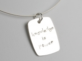 Knowledge Is Power Sterling Silver Necklace