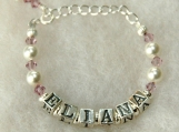 Baby Birthstone Name Bracelet - Custom