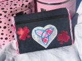 Lucky Celtic Applique Deluxe Makeup Bag