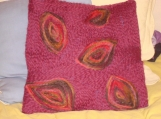 Purple Leaves Pillow