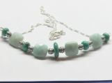 Study in Blue an Amazonite/Turquoise/Sterling Silver necklace