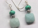 Study in Blue the Earrings Amazonite/Turquoise earrings