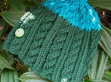 Skywatcher Wool Handknit Cabled Toddler Hat