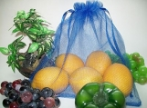 NEW..ROYAL BLUE...4 REUSABLE PRODUCE BAGS......DOUBLE THICK