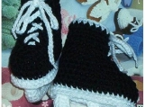 Boutique Crochet Hockey Skates Baby Booties