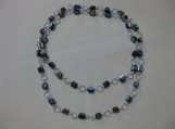 Mother of Pearl and Silver Blue Necklace