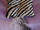 Wild Cat Zebra Catnip Pillow