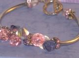 Swarovski Crystal Bracelet with silver plated tubes