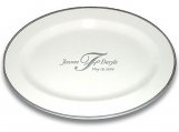 Custom Monogram Wedding Anniversary Signature Platter