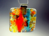 April- Handmade Fused Glass Necklace