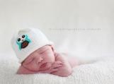 Baby Blue Hootie Owl Beanie
