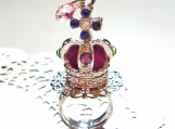 Glitter Crown with Swarosvki Crystal Ring