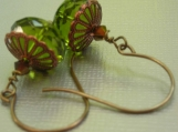 green pagoda earrings